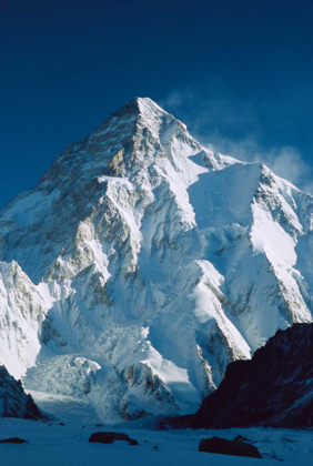 Picture of K2 AT DAWN, FROM CAMP BELOW BROAD PEAK, GODWIN AUSTEN GLACIER, PAKISTAN