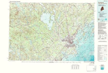 Picture of PORTLAND MAINE QUAD - USGS 1985